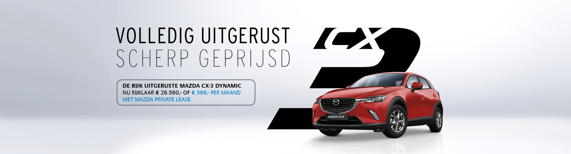 170631 Banner Mazda CX-3 Dynamic - Private Lease - 1920x520px