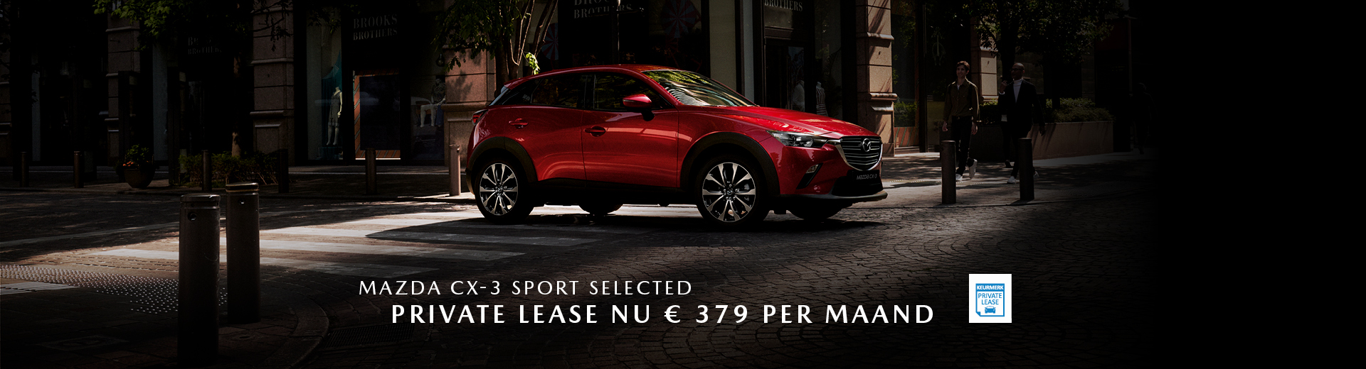 190283 Mazda Q3_Banner Mazda CX-3 Sport Selected_Private Lease_1920x520px [opmaak 01]