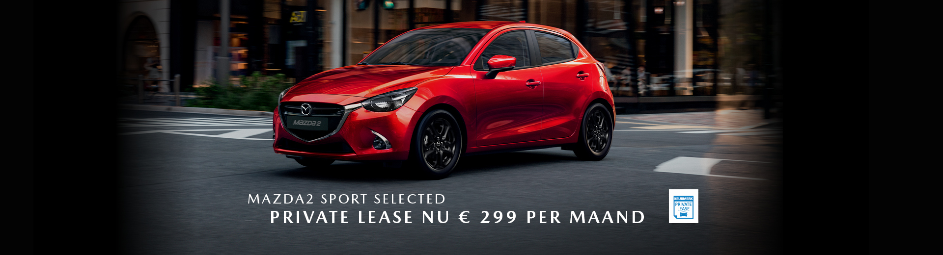 190283 Mazda Q3_Banner Mazda2 Sport Selected_Private Lease_1920x520px [opmaak 01]
